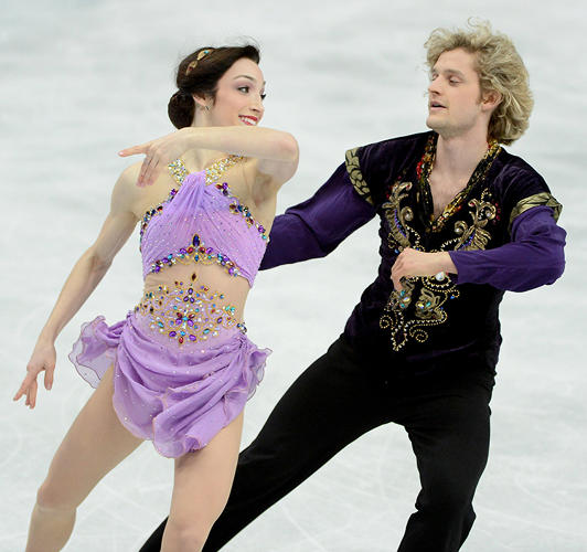 <p>Meryl Davis and Charlie White of USA. &quot;I think this pair actually looks great. All the embellishment doesn't bother me here, it works. She looks elegant.&quot;</p>