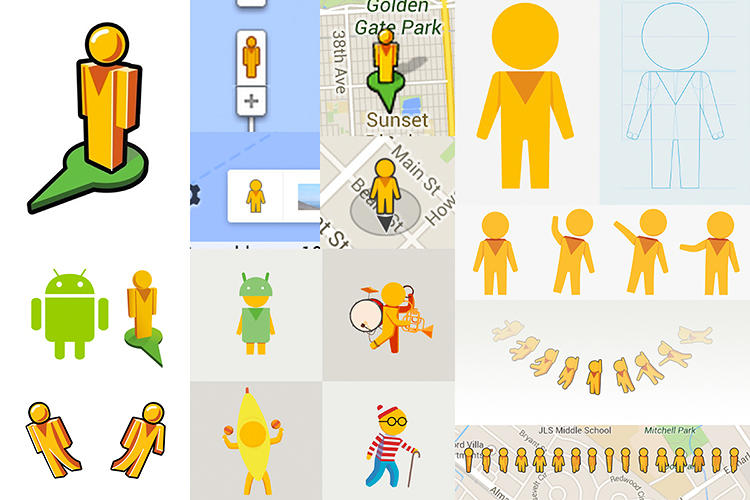 <p>The redesign of Pegman to make the mascot more friendly, legible at small sizes, and in-tune with the new Maps design.</p>