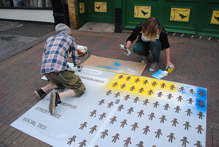 <p>Most infographics are slick online charts, but it turns out that chalk on a sidewalk can work just as well.</p>