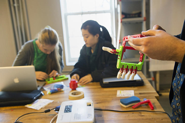 <p>NuVu is an &quot;innovation center&quot; for under-18s that takes 35 students at a time. Twenty of those come from Beaver Country Day School, a founding partner. The rest are from other public and charter schools nearby.</p>