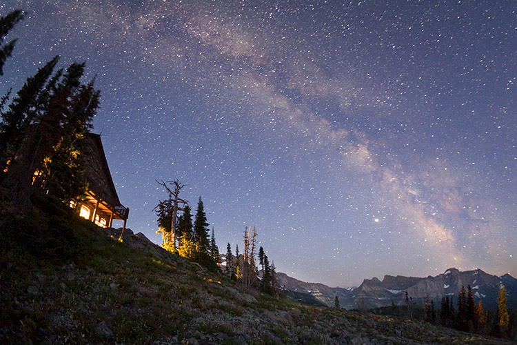 <p>Granite Park Chalet, Glacier National Park--one of the remotest areas in the western United States.</p>