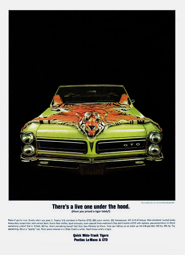 <p>By midcentury, romantic, painterly posters were replaced by ads that depicted cars as rock 'n' roll accessories.</p>