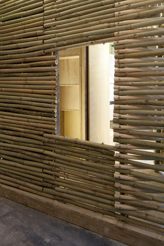 <p>Each small house is made with bamboo because it's strong, lightweight, and easily available; it was once commonly used for housing in the area and is still often used for scaffolding.</p>