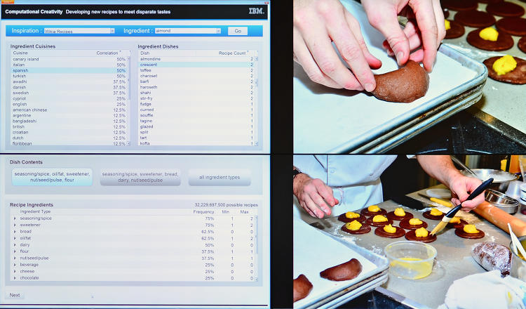 <p>IBM collaborated with the Institute of Culinary Education as it built a recipe-creation computer. &quot;By codifying culinary knowledge into mathematical terms a computer can understand, the system will use algorithms to determine the precise chemical structure of food and why people like it, enabling it to suggest new combinations of ingredients that are both scientifically flavorful and surprising. The goal of this research is to push computing to new fields of creativity and demonstrating this with designs for novel, high-quality food combinations that can tackle the challenges faced by society and the food industry,&quot; IBM Research writes.</p>