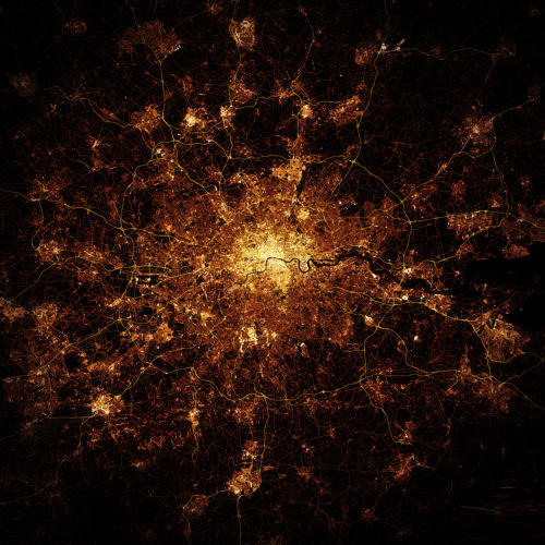 <p>Seen from space, cities look incredibly detailed at night.</p>