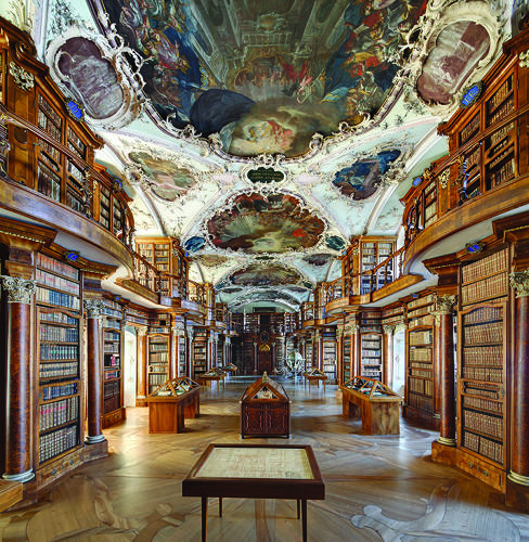 <p>A new, lavish coffee-table book, <em><a href=&quot;http://www.roads.co/books/libraries&quot; target=&quot;_blank&quot;>Libraries</a></em>, pays homage to 44 of the world's most beautiful libraries. Here, the Abbey Library of St. Gall, designed by Peter Thumb, 1767.</p>