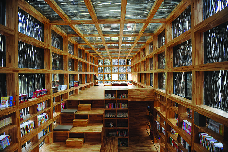 <p>Designed by Li Xiaodong Atelier, 2011. Clothed in untreated twigs, this library in the mountains outside Jiaojiehe is a dreamy haven of quiet.</p>
