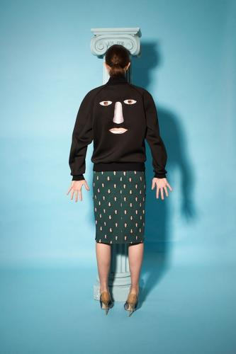 <p>In this latest of many recent designer collections to <a href=&quot;http://fashion.telegraph.co.uk/galleries/TMG10705001/1/Trending-Art-inspired-fashion.html&quot; target=&quot;_blank&quot;>draw on major artists for inspiration</a>, Magritte's work makes skinny jeans, Bermuda shorts, bomber jackets, and mini-dresses shriek aloud.</p>
