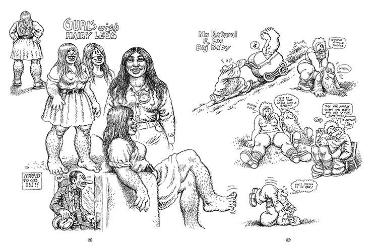<p>Crumb's beloved female sasquatch rambles throughout, evolving from doodles to (very) fleshed-out drawings.</p>