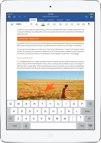 <p>Office for iPad is available for download from the App Store beginning Thursday.</p>