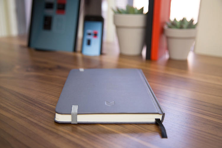 <p>The blank books are designed to be exactly the same size as an iPad Mini.</p>