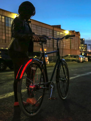 <p>What makes the Revolights different is, first, that the wheel-mounts create a single beam when you spin them fast enough (which is a nice effect).</p>