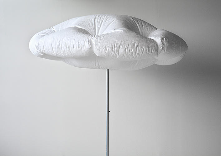 <p>On top, a solar panel generates power to run a fan inside the fabric, keeping the umbrella extended until the sky gets cloudy again.</p>