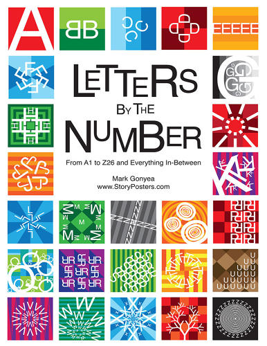 <p>In &quot;Letters by the Number,&quot; Gonyea takes each letter in the Roman alphabet and multiplies it according to its numeric placement in the alphabet. A, for example, is just a single A, but B is actually two Bs, and by the time you reach Z, you're talking about 26, intricately interconnected zig-zags.</p>