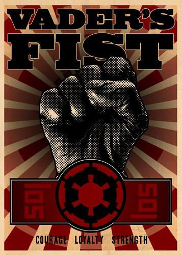 <p>Kung-Fu style Vader fist.</p>