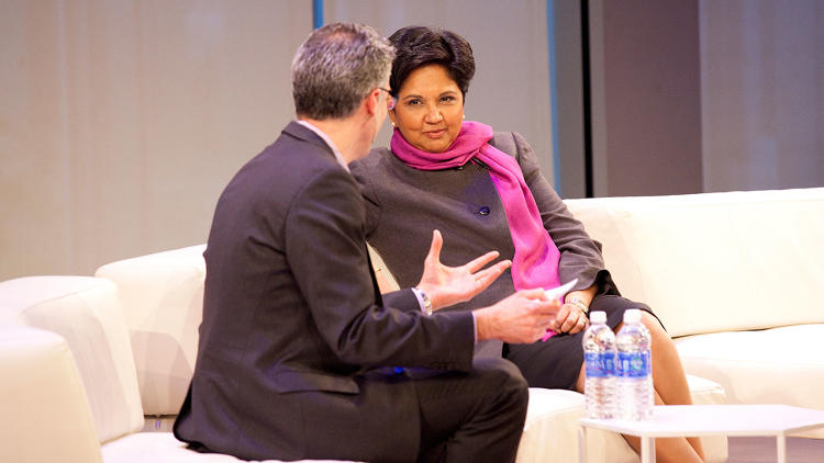 <p><a href=&quot;http://www.fastcompany.com/1750645/how-pepsis-indra-nooyi-learned-be-ceo&quot; target=&quot;_self&quot;>Pepsi's CEO Indra Nooyi</a> talked with <em>Fast Company</em>'s Robert Safian about how a giant corporation like Pepsi innovates.</p>