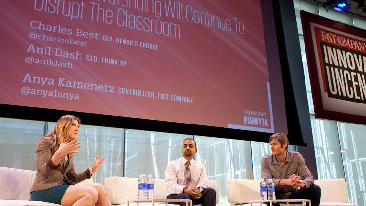 <p><a href=&quot;http://www.fastcompany.com/3025597/donorschoose-hot-for-teachers&quot; target=&quot;_self&quot;>DonorsChoose CEO Charles Best</a> and technologist Anil Dash talked about crowdfunding in education with <em>Fast Company</em>'s Anya Kamenetz.</p>
