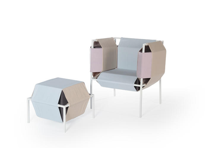 <p>German designer <a href=&quot;http://meikeharde.com/&quot; target=&quot;_blank&quot;>Meike Harde</a>'s work focuses on playful uses of upholstery. Her new armchair is ultra-lightweight, thanks to the foam pieces that wrap around the frame and it give it shape.</p>