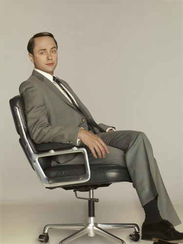 <p>Account man Pete Campbell, seen sitting in an Eames Time-Life chair. These chairs--and other Herman Miller pieces--play a key storytelling role on <em>Mad Men</em>.</p>