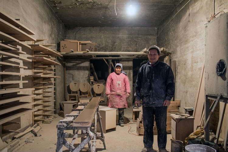 <p>While in Fengdu, Rubio also came upon a pair of former farmers, Mr. Zou and Mrs. Qian, who took jobs manufacturing furniture in a workshop after their land was flooded. Fearful of what their boss would think, Zou and Qian wouldn't let Rubio buy furniture directly from them.</p>