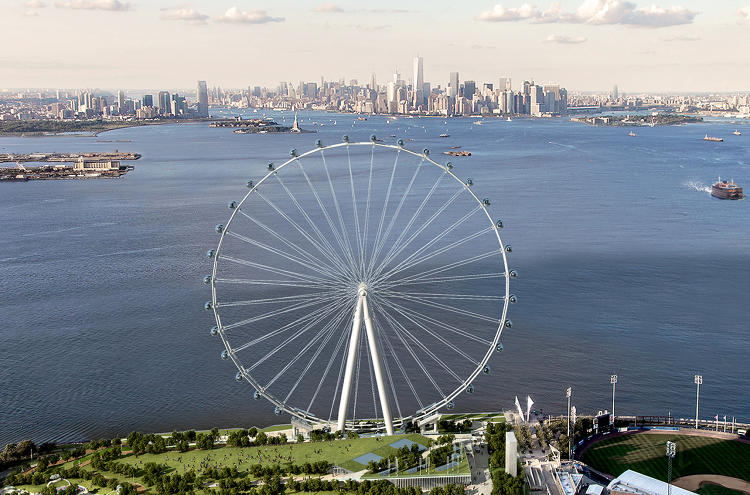 <p>A rendering of Staten Island's planned New York Wheel, which will stand 630 feet tall when it's completed.</p>