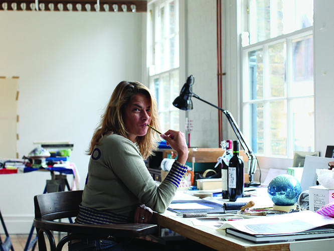 "<p>Emin got her first studio after leaving the Royal College of Art. It was about $39 a week, a small classroom divided in half that she shared. Now, she works in an 8,503-square-foot custom-built space. ""I'd be dead,"" Emin says about what would happen if nature somehow took art away from her. ""I'm with the arts like a lover. No matter how bad I am to it, it always comes back.""</p>"
