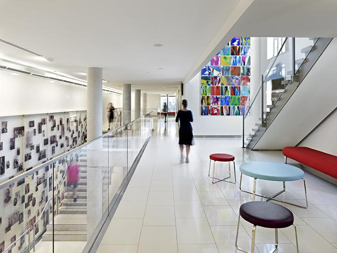 <p>At the Sephardic Community Center in Brooklyn, BKSK Architects' renovation and expansion of a 30-year-old building turned the central stair into the focal point of the community.</p>