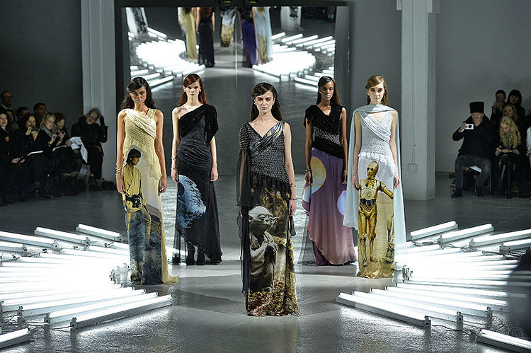 <p>Fashion house Rodarte won Fashion Week with their<a href=&quot;http://www.fastcodesign.com/3026379/star-wars-themed-gowns-invade-fashion-week&quot; target=&quot;_self&quot;> Star Wars-themed Autumn/Winter 2014 collection</a>.</p>