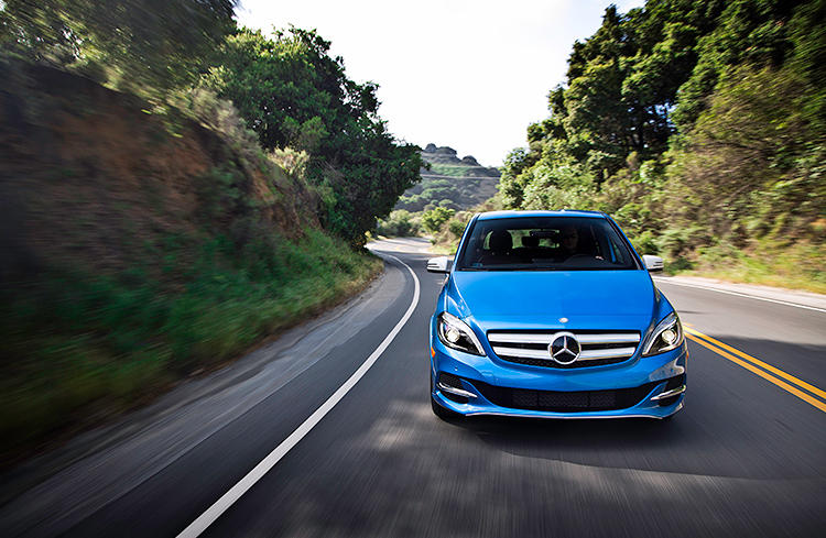 <p>The Mercedes-Benz B-Class Electric Drive goes on sale in the U.S. this summer.</p>