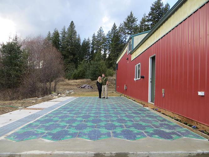 <p>Since most of that pavement is soaking up sun all day long, a couple of entrepreneurs had an idea: Why not put it to use generating solar power?</p>