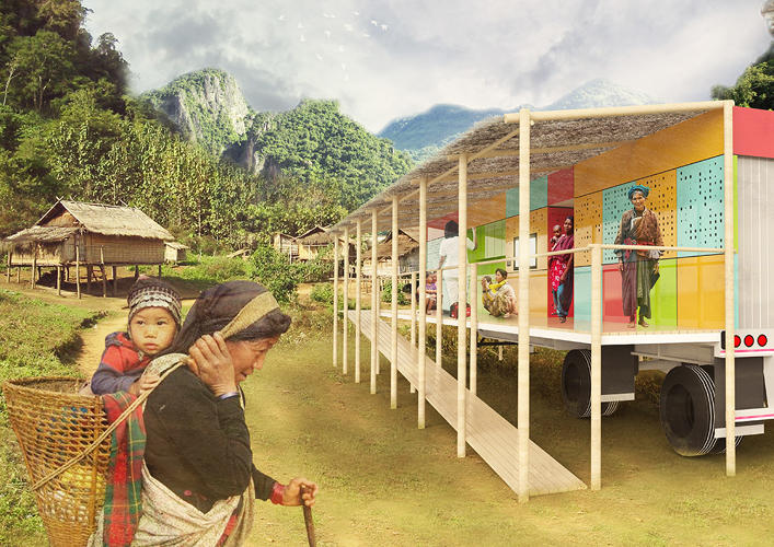<p>This mobile clinic is built to keep costs low, so health providers can reach more people and not have to invest in land or infrastructure to do so.</p>