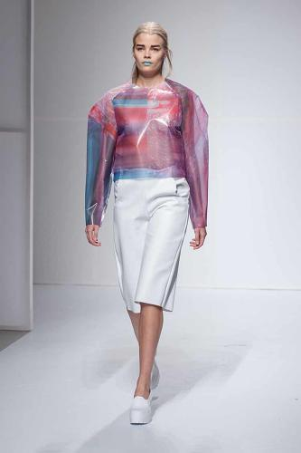 <p>Presented last week alongside the work of 21 other graduating students, her collection won the Liz Claiborne Concept to Product Award at the Pratt Institute's 2014 Fashion Show--a high honor that comes with $25,000 from the Liz Claiborne and Art Ortenberg Foundation.</p>