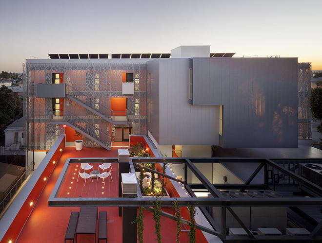 <p>Koning Eizenberg Architecture restored a 1926 YMCA building in south Los Angeles, adding a new five-story structure in the rear.</p>