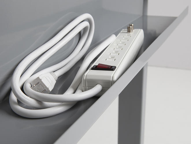 <p>An upgraded version of the design comes with a tray to hold cables.</p>