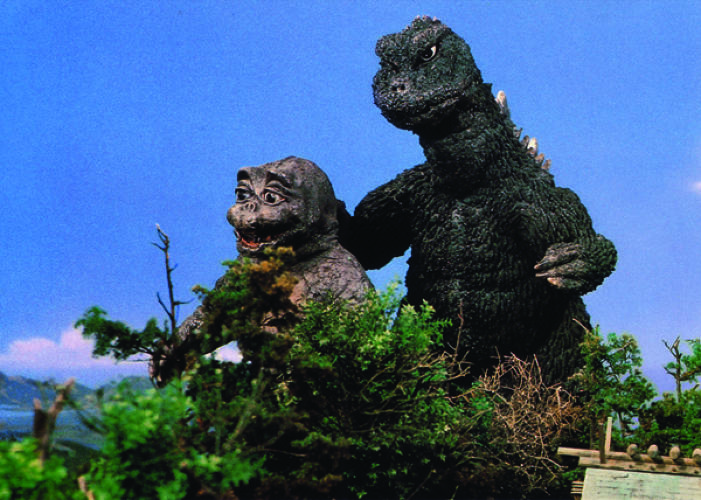<p>Godzilla's child Minilla appeared in 1964's <em>Charge of the Monsters</em>.</p>
