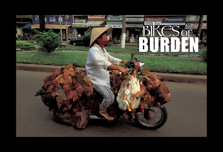 <p>But there are still 37 million motorbikes on Vietnam roads for now. After first publishing his collection of photos in a book called <em>Bikes of Burden</em> in 2005, Kemp recently revisited the project and saw that the scenes hadn't changed much over the intervening decade.</p>