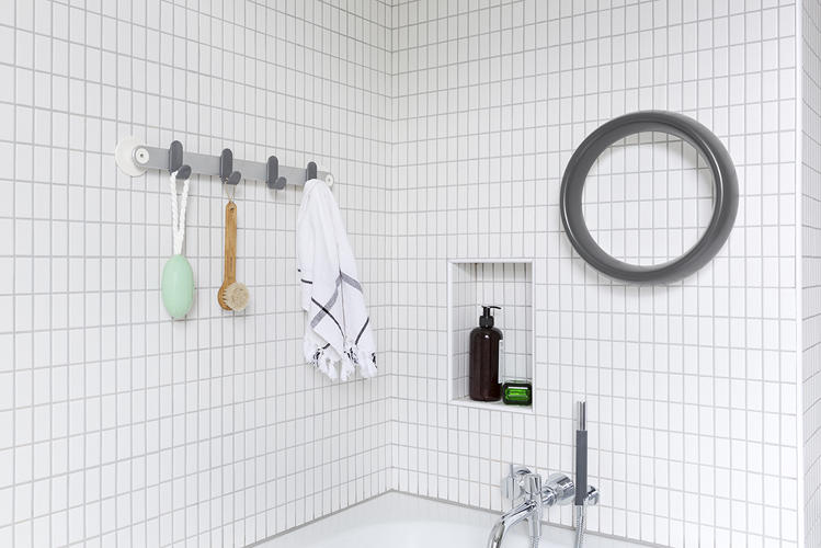 <p>Now, at ICFF in New York, he's showing his third line of wares: Sabi Space, a 13-piece line of storage and organization solutions for the bathroom.</p>