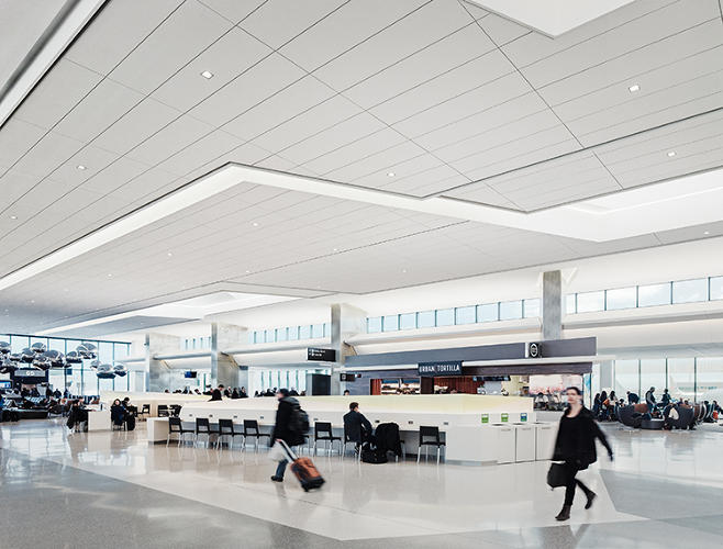 <p>Creating a healthy, calming experience for passengers and airport employees, as well, was part of the programming for the remodeled T3BAE space, which means it permeated the design thinking.</p>