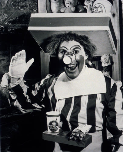 <p>Actor/clown Willard Scott was the original creator of Ronald McDonald, and played him in commercials in the 1960s. He was...pretty scary.</p>