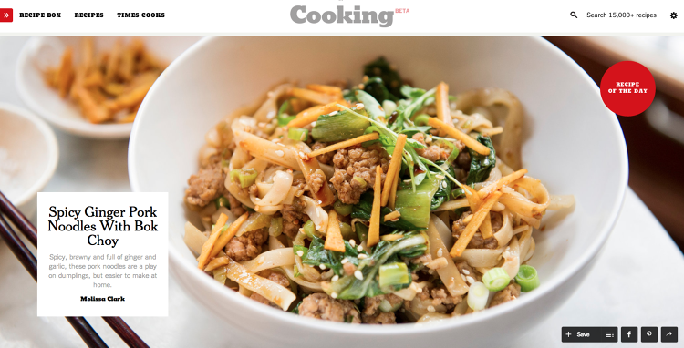 <p>NYT Cooking is a new cooking portal from the NYT (in beta).</p>