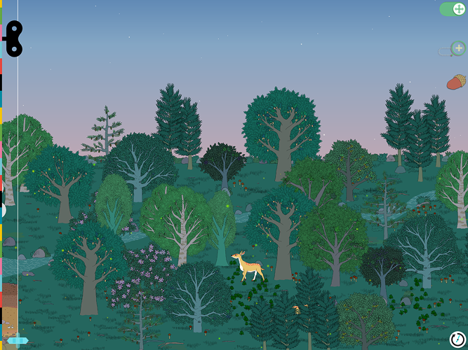<p>...leading animals through the forest...</p>