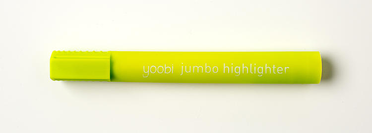 <p>Yoobi puts some fun twists on typical school supplies. The push-pins and paper clips come in an assortment of colors and shapes, such as pink hearts and bright yellow donut holes. You can also get this giant-sized highlighter. Everything retails for less than $10 <a href=&quot;http://www.target.com/s?searchTerm=yoobi&amp;category=0%7CAll%7Cmatchallpartial%7Call+categories&amp;lnk=snav_sbox_yoobi&quot; target=&quot;_blank&quot;>at Target, their exclusive distributor, starting today</a>.</p>