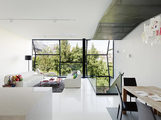 <p>To do so, they flipped the exterior and interior spaces, building a glass facade on what had been the back of the house.</p>