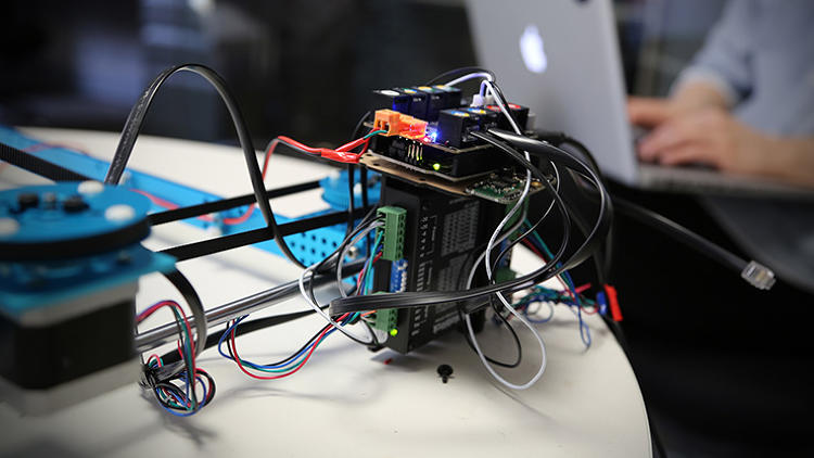 <p>The Arduino-powered PicNix robot under development at A&amp;G Labs.</p>