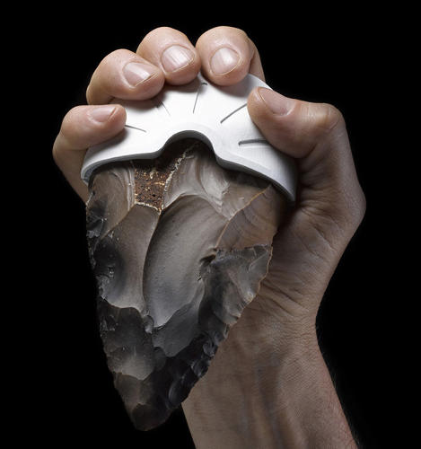 <p>A new set of tools combines state-of-the-art technologies that happen to be 1.8 million years apart: Prehistoric hand axes and 3-D printing.</p>