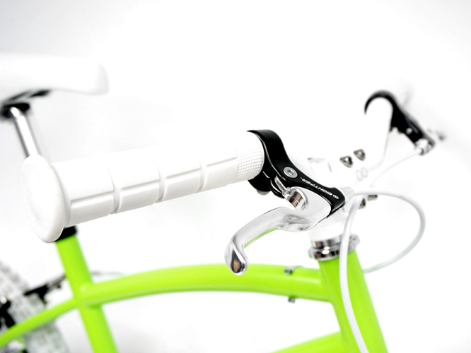 <p>The designers worked to make the bike as fun as possible, adding a few preset sounds like a bugle and dinosaur to the wheel.</p>