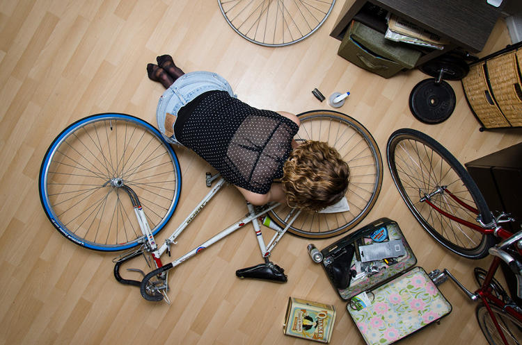 <p>Photographer Florian Beaudenon captures people from above, in private spaces.</p>
