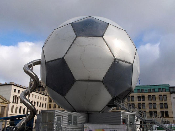 <p>Oh, and here's a giant Fuller-style ball from the 2006 World Cup. Not sure if anyone lives in there.</p>