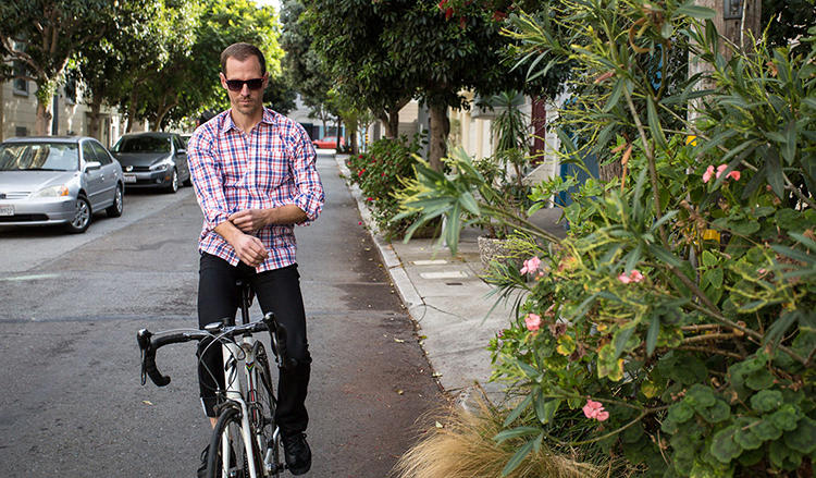 <p>The shirt is part of a collection called Bike to Work, which also includes things like secretly bike-friendly pants that reveal more reflective patches when you roll up the leg or pull a hidden patch out of a pocket.</p>