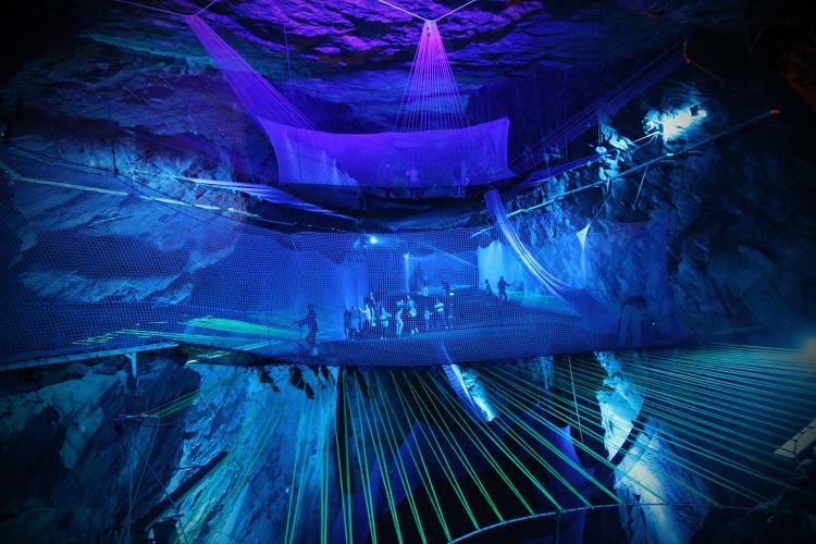 <p>It's located in an enormous former mining cavern in a town with a name we won't even try to pronounce.</p>